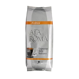 Alta Roma Arabica (Альта Рома Арабика), кофе в зернах (1кг), вакуумная упаковка и кофемашина с автоматическим капучинатором, за мкад