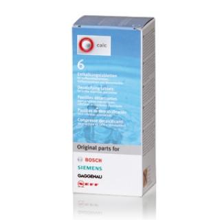 Таблетки от накипи, (для декальцинации) Bosch 6 шт. (Чистящее средство для кофемашины)