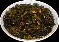 Чай зеленый HANSA TEA Лимон с имбирем, 500 г, фольгированный пакет, крупнолистовой зеленый ароматизированный чай, купить чай