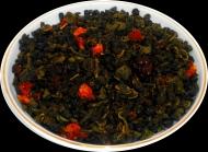 Чай зеленый HANSA TEA Земляника со сливками, 500 г, фольгированный пакет, крупнолистовой зеленый ароматизированный чай