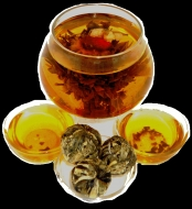 Чай связанный HANSA TEA Персик Бессмертия с жасмином, 500 г, фольгированный пакет, крупнолистовой связанный чай, купить чай
