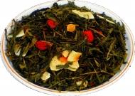 Чай зеленый HANSA TEA Клубника колада, 500 г, фольгированный пакет, крупнолистовой зеленый  чай, купить чай