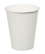 Стакан картонный одинарный под горячие напитки, белый, 100 мл (100 шт. в упаковке)