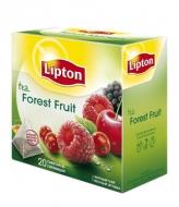 Чай Lipton черный Forest Frui с кусочками лесных ягод